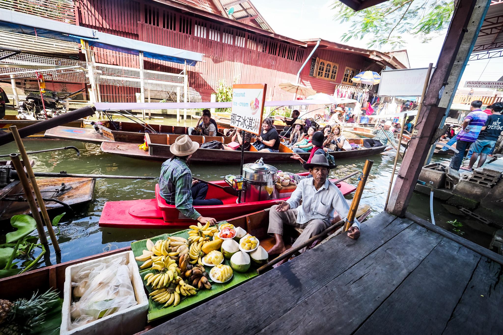 Bangkok 577 Atrakcje Bangkoku: Pływający Targ (Damnoen Saduak)