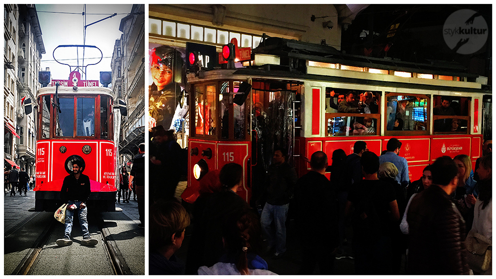 Czerwony tramwaj w Stambule