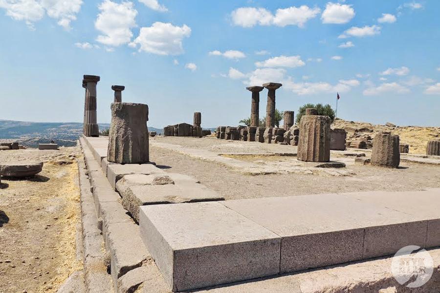 assos11 Starożytne Assos w Turcji, w pobliżu wsi Behramkale