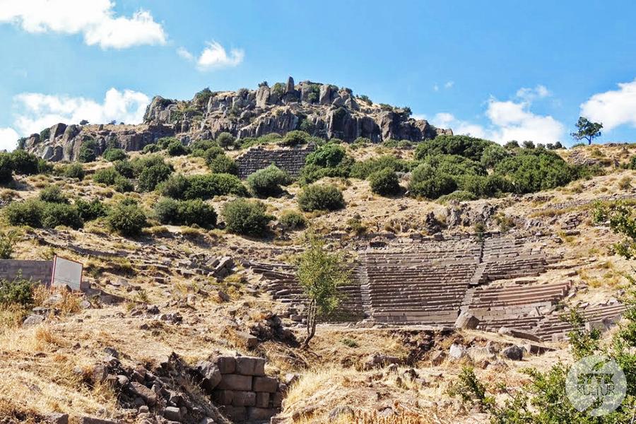 assos22 Starożytne Assos w Turcji, w pobliżu wsi Behramkale