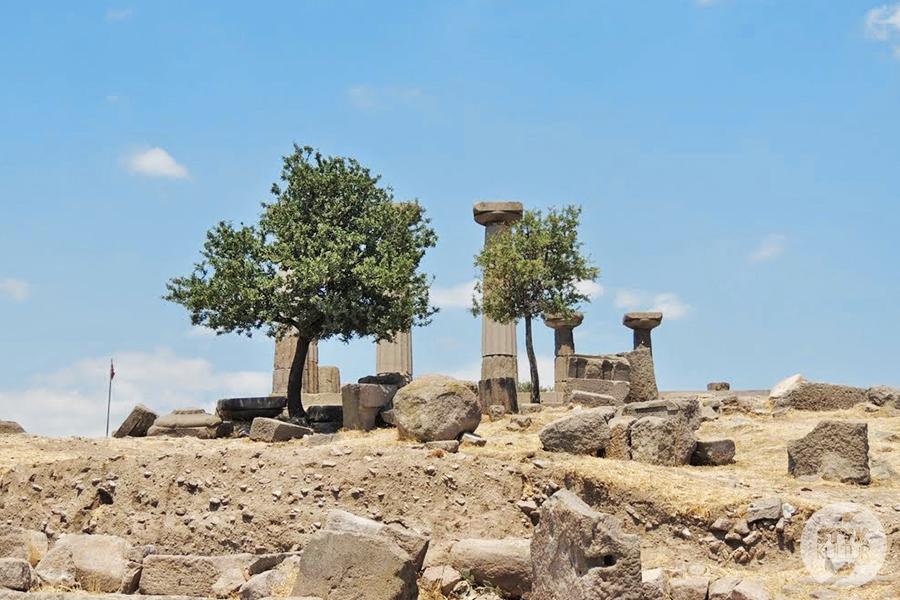 assos7 Starożytne Assos w Turcji, w pobliżu wsi Behramkale