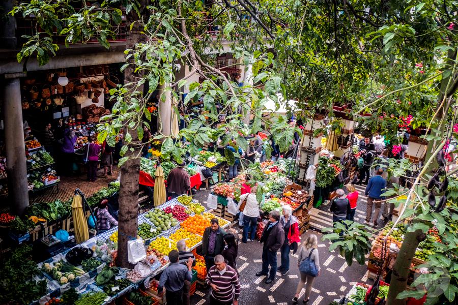 Mercado 25 of 34 1 Madera : targ owocowy w Funchal (Mercado dos Lavradores)