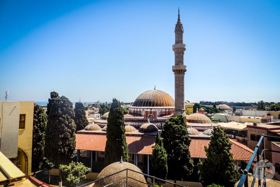 Rodos MeczetSulejmana 2 Co warto zobaczyć w mieście Rodos? 12 najpopularniejszych atrakcji stolicy greckiej wyspy