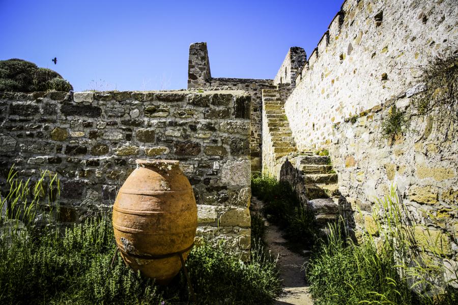 Turcja Bozcaada zamek 7 Zamek na wyspie Bozcaada (północno zachodnia Turcja)