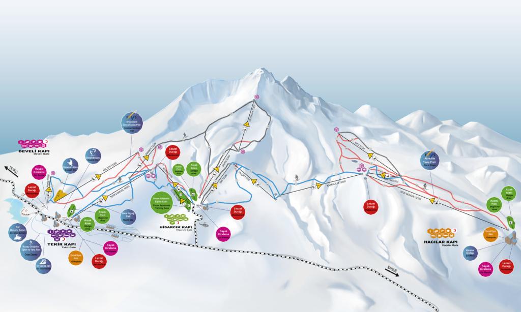 Erciyes mapa 1024x614 Narty w Turcji, rzut beretem od Kapadocji. Odwiedziliśmy Erciyes Ski Resort!