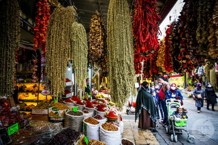 Kayseri bazar 15 of 21 Drugi największy historyczny bazar Turcji: 800 letni Kayseri Çarşısı